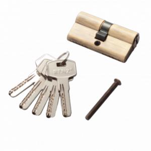 Цилиндр RENZ CC 60 ключ-ключ, AB античная бронза  Арт 67758
