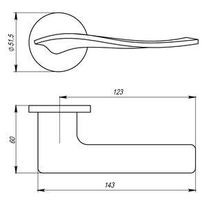 Цилиндр Rossi ключ-вертушка 60мм D30х30 K07 AB Бронза античная Арт 86883