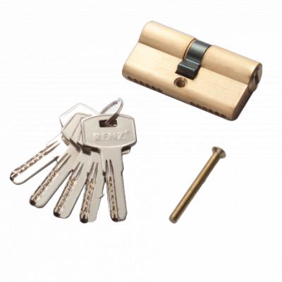 Цилиндр RENZ CC 60 ключ-ключ, SB матовое золото Арт 67756