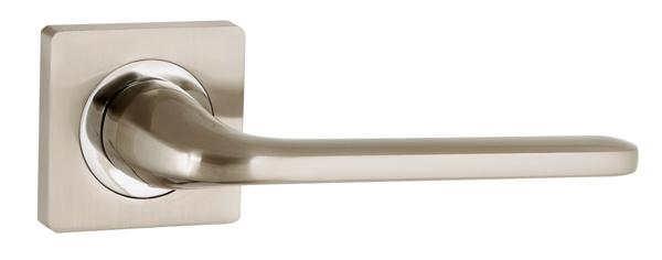 Дверная ручка Punto (Пунто) DROID ZQ SN/CP-3 матовый никель/хром