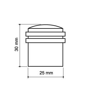 Ограничитель двери 30 мм напольный Armadillo античная бронза Арт 58267 мм