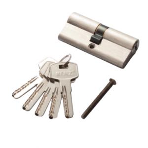 Цилиндр RENZ CC 60 ключ-ключ, SN матовый никель Арт 67757