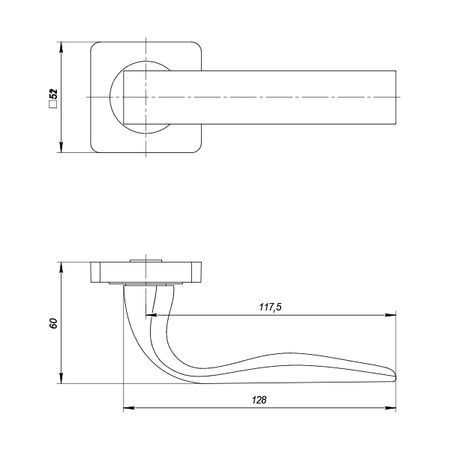Дверная ручка Punto (Пунто) INTEGRA ZQ GR-23 графит