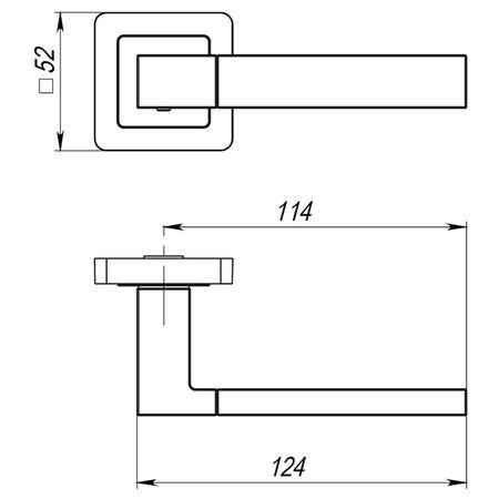Дверная ручка Punto (Пунто) STYLE QL BL-24 черный