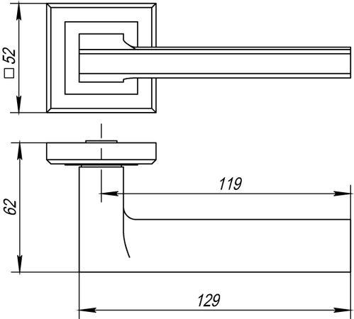 Дверная ручка Punto (Пунто) VECTOR QL BL-24 черный