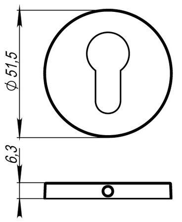 Накладка на цилиндр CYLINDER ET URS BPVD-77 Вороненый никель