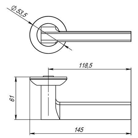 Дверная ручка Punto (Пунто) BLADE TL SSC-16 Хром матовый