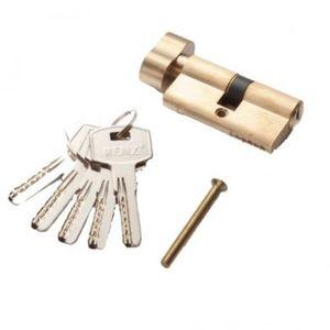 Цилиндр RENZ CC 60-H ключ-вертушка, SB матовое золото Арт 67766