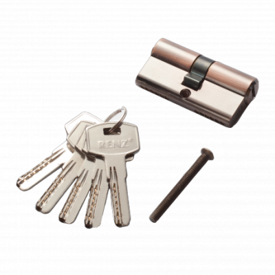 Цилиндр RENZ CC 60 ключ-ключ, AC медь Арт 67759
