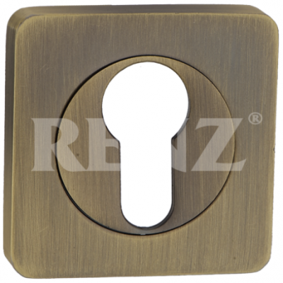Накладка на цилиндр Renz матовая античная бронза  Арт 67720