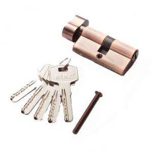 Цилиндр RENZ CC 60-H ключ-вертушка, AC медь Арт 67769