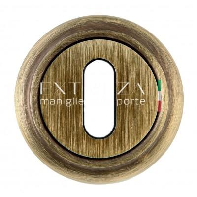 Накладка под ключ флажковый Extreza  матовая бронза 2056