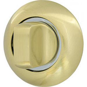 Ручка фиксатора WC-BOLT BK6-1SG/CP-1 матовое золото/хром