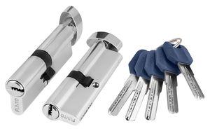 Цилиндр Punto ключ вертушка Z402/60 mm (25+10+25) CP хром 5 кл.