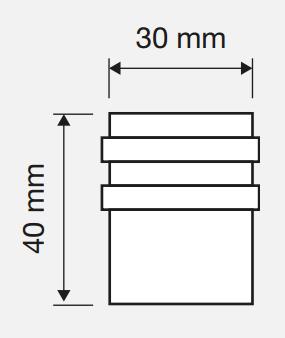 Ограничитель двери 40 мм напольный Linea Cali матовая бронза Арт 104312