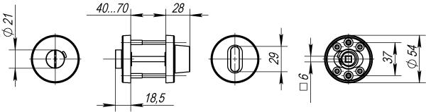 Ручка Фиксатора с индикатором DSS-02-BK6 нержавейка