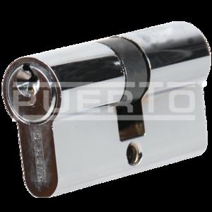 Цилиндр PUERTO 60 мм К-К, станд., хром блест. 3 кл Арт CS 60 AL CPЦ