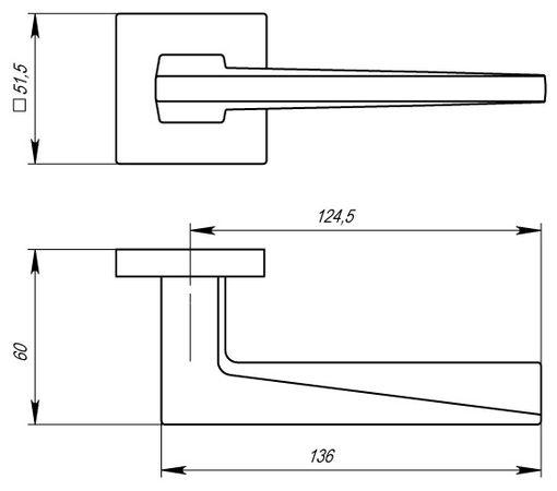 """Дверная ручка ARMADILLO """"MORI USS"""" CP-8 Хром полированный"""