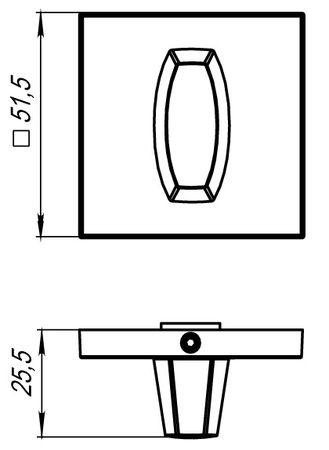 Ручка фиксатора WC-BOLT BK6 USS CP-8 Хром полированный
