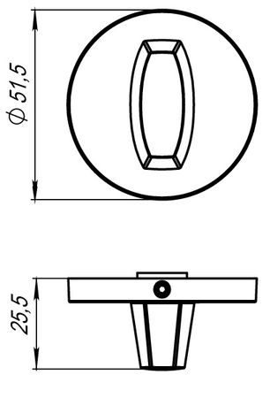 Ручка поворотная WC-BOLT BK6 URS AB-7 Бронза