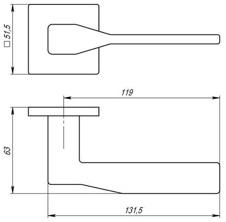 """Дверная ручка ARMADILLO """"GRAND USS"""" MWSC-33 Хром матовый"""
