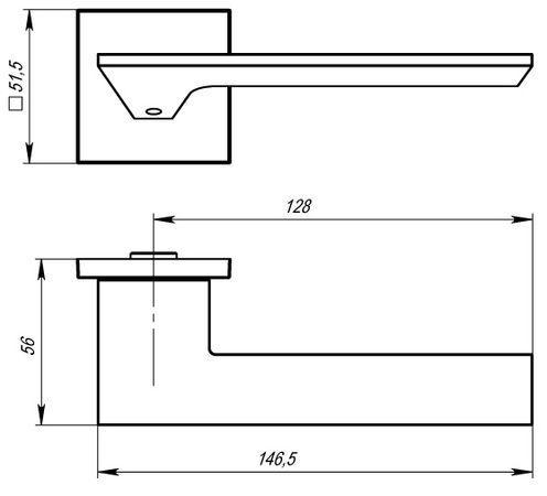 """Дверная ручка ARMADILLO """"MIRAGE USS"""" MWSC-33 Хром матовый"""