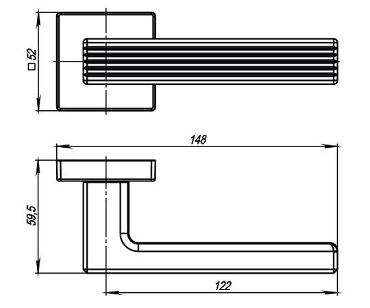 """Дверная ручка ARMADILLO """"URBAN LINE USQ6"""" SN-3 матовый никель"""