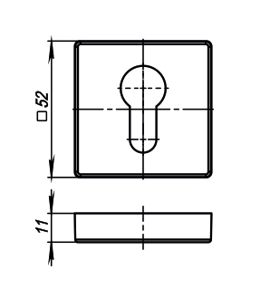 Накладка  Armadillo (Армадилло) ET USQ SN-3 Матовый никель 2 шт