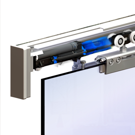 Комплект фурнитуры для цельно стеклянных дверей 2013