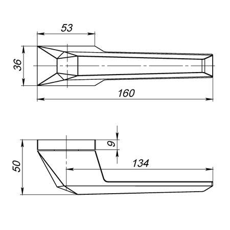"""Дверная ручка Armadillo """"IRON"""" UCS BPVD-77 вороненый никель"""