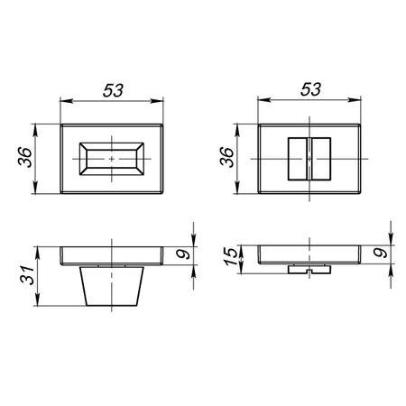Ручка фиксатора WC-BOLT BK6 UCS СР-8 Полированный хром