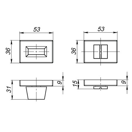 Ручка фиксатора WC-BOLT BK6 UCS MWSC-33 Матовый хром