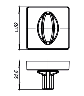 Ручка фиксатора Armadillo  WC-BOLT BK6/USQ SN-3 Матовый никель