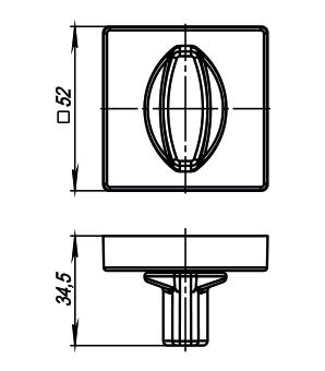 Ручка фиксатора Armadillo WC-BOLT BK6/USQ BB-17 Коричневая бронза