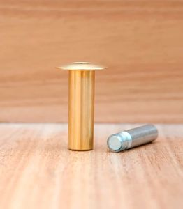 Ограничитель для двери магнитный скрытый упор «Fantom» Premium HGT001 Матовая латунь