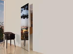 Дверь зеркало/стекло, каркас дерево