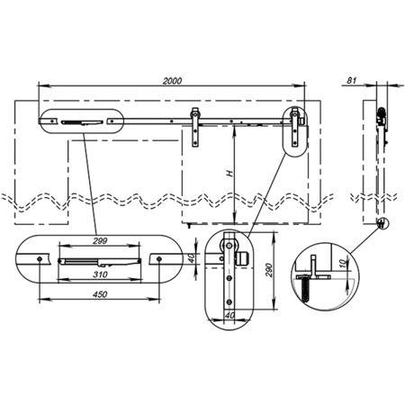 Открытая система  Армадилло для раздвижных дверей SUPERVISION/100