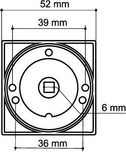 Ручка фиксатора WC-BOLT BK6/SQ-21CP-8 хром