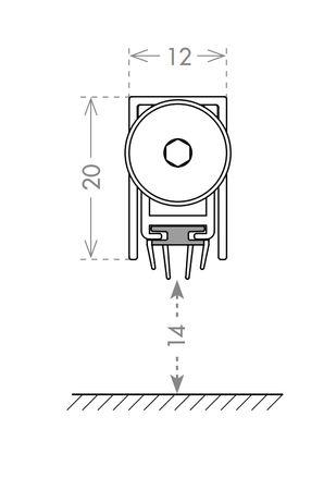 Автоматический порог 830 мм. CCE Италия