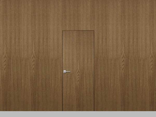 Дверь с панелями из шпона