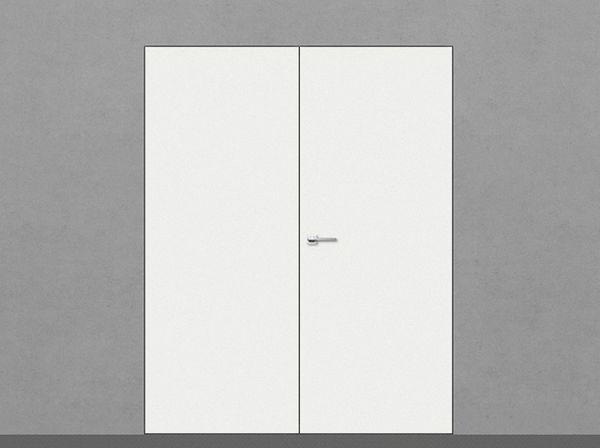 Дверь двустворчатая под покраску с притвором