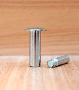 Ограничитель для двери магнитный скрытый упор «Fantom» Premium HGT001 Полированный хром
