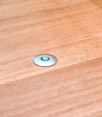 Ограничитель для двери магнитный скрытый упор «Fantom» Premium HGT001 Матовый хром