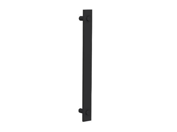 Ручка металлическая прямая черная (скоба) 1 шт